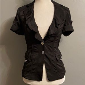 White House Black Market Ruffled Fitted Jacket